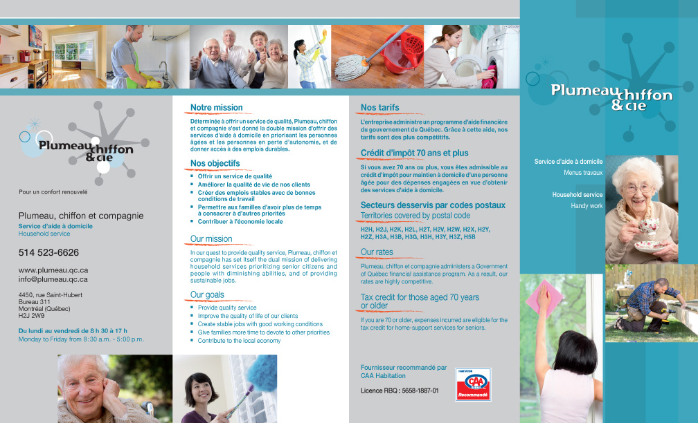 Depliant Plumeau Chiffon Cie 2014 p1